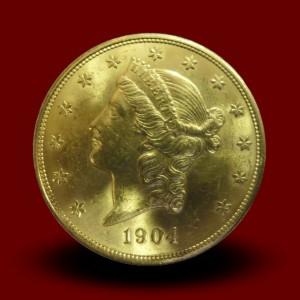 33,44 g, Zlati 20 USD, Coronet Head (1902)