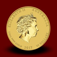 7,8070 g, Australian Lunar Gold Coin - Year of Rooster 2017