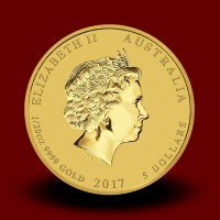 1,5710 g, Australian Lunar Gold Coin - Year of the Rooster 2017