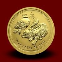 Zlati Lunin koledar TIGER 1/4 OZ / Gold Lunar TIGER / Lunare Goldmünze TIGER
