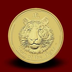 15,594 g, Australian Lunar Gold Coin - tiger (2010)