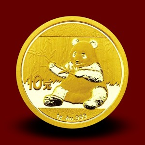 1 g, China Panda Gold Coin - 2016,2017