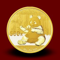 30 g, China Panda Gold Coin 2016, 2017