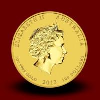 31,162 g, Australian Lunar Gold Coin - snake (2013)