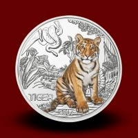 16 g (Cu/Ni), Tiger - 3 EUR Collectible coin (2017), Colorful creatures Series