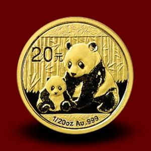 1,5556 g, Zlati Kitajski panda (2012)