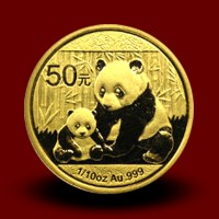 3,113 g, China Panda Gold Coin (2012)