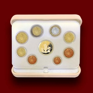 Euro Coins Set with Gold Coin (2017)