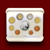 Euro Coins Set with Silver Coin (2017)