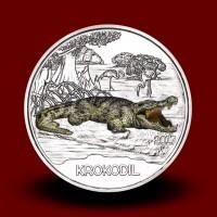 16 g (Cu/Ni), Krokodil - 3 € zbirateljski kovanec (2017), serija Živali v barvah