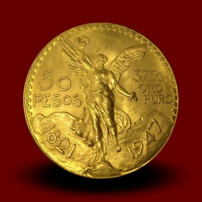 41,67 g, Mexican 50 Pesos Gold Coin