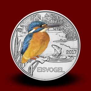 16 g (Cu/Ni), Vodomec - 3 EUR zbirateljski kovanec (2017), serija Živali v barvah