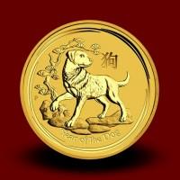 15,5940 g, Australian Lunar Gold Coin - Year of the Dog 2018