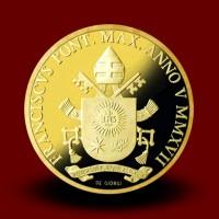 30 g, zlatnik Pontifikat papeža Frančiška - Evangelisti, Sveti Janez