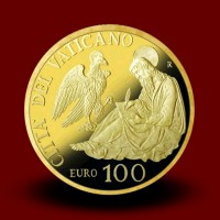 30 g, Pontificate of Pope Francis Gold Coin - The Evangelists: Saint John