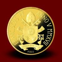 3 g, zlatnik Pontifikat papeža Frančiška - Sveti krst