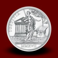 22,42 g, Cesarica Marija Terezija, Zakladi zgodovine - Srebrnik Pravičnost in značaj, 2017