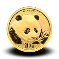 1 g, China Panda Gold Coin - 2018
