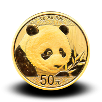 3 g,  China Panda Gold Coin - 2018