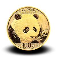8 g, China Panda Gold Coin - 2018