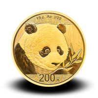 15 g, China Panda Gold Coin - 2018