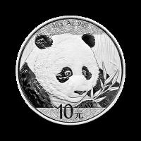 30 g, Srebrni Kitajski panda 2018