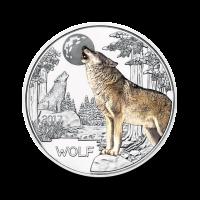 16 g (Cu/Ni), Volk - 3 € zbirateljski kovanec (2017), serija Živali v barvah / RAZPRODANO