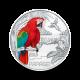16 g (Cu/Ni), Papiga - 3 € zbirateljski kovanec (2018), serija Živali v barvah