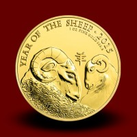 31,21 g, Year of the Sheep Gold Coin 2015
