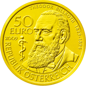 10,14 g, Theodor Billroth (2010), Celebrated Physicians of Austria Series