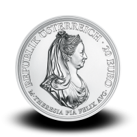22,42 g, Empress Maria Theresa, Clemency and Faith, 2018