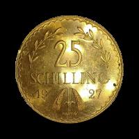 5,88 g, Zlati kovanec 25 ATS, 1927