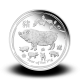 31,1035 g, Australian Lunar Silver Coin - Year of the Pig 2019