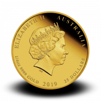 7,8070 g, Australian Lunar Gold Coin - Year of the Pig 2019