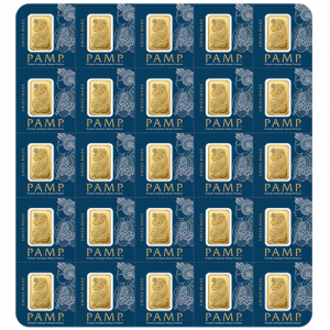 25 x 1 g, Gold bar Fortuna - Multicard