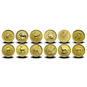 3,11 g x 12, Lunar Series I - Gold coins collection