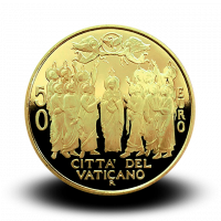15 g, Pontificate of Pope Francis Gold Coin - The Ascension of Christ, 2018