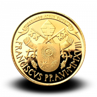 6 g,  Pontificate of Pope Francis Gold Coin - The Ascension of Christ, 2018