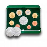 Euro Coins Set with Silver Coin (2018)