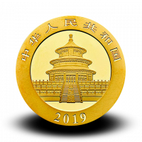 1 g, China Panda Gold Coin - 2019
