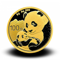 8 g, China Panda Gold Coin - 2019