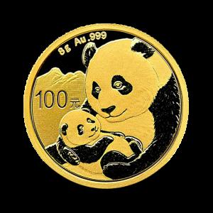 8 g, China Panda Gold Coin - 2019