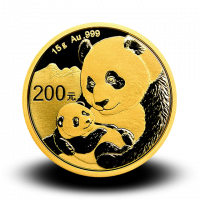 15 g, China Panda Gold Coin - 2019
