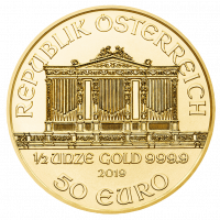 15,5517 g, Vienna Philharmonic Gold Coin 1989-2019