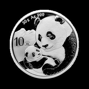 30 g, Srebrni Kitajski panda 2019
