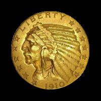 8,36 g, Zlati 5 USD, Indian Head (1910)