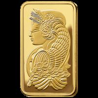 50 g, Gold Bar PAMP
