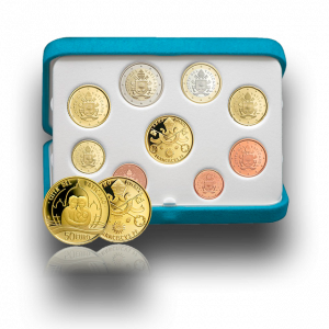 Euro Coins Set with Gold Coin 2019