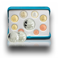 Euro Coins Set with Silver Coin, 2019