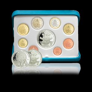 Euro Coins Set with Silver Coin, 2019